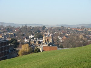 Hitchin from Windmill Hill